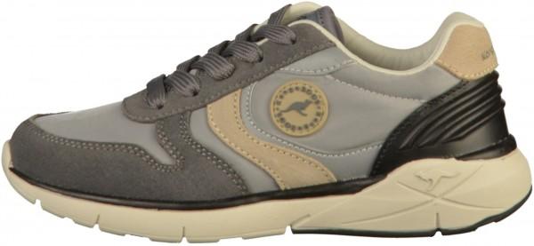 KangaROOS Sneaker Leather/Textile Gray
