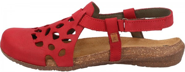 El Naturalista Clogs Leather Red