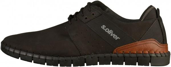 s.Oliver Sneaker Leder/Textil Schwarz