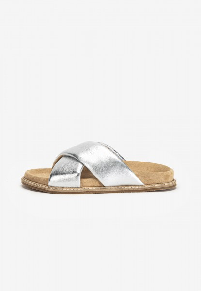 Inuovo Mules Leather silver