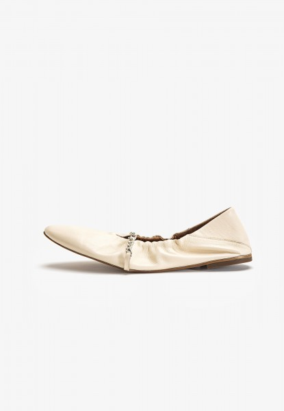 Inuovo Slipper Leder Bone