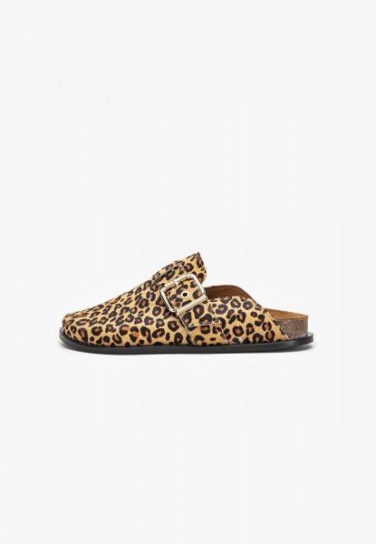 Inuovo Clogs Veloursleder Leopard