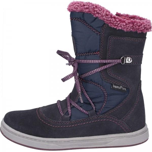 Bama Teens Stiefel Leder/Textil Dunkelblau