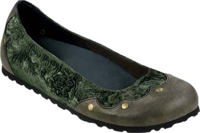 PAPILLIO Harvard Halbschuhe Naturleder/Textil Green