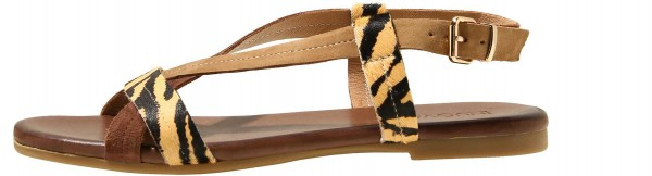 Inuovo Sandals Leather Beige / Black