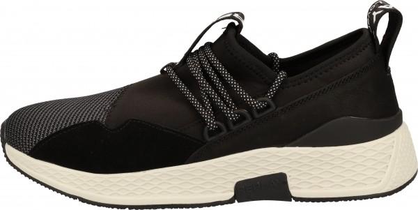 Replay Sneaker Veloursleder/Textil Schwarz