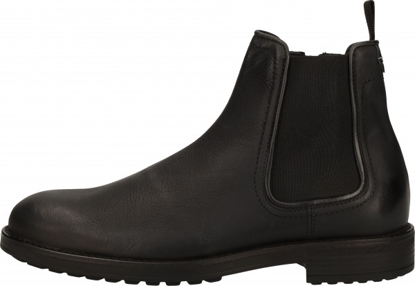 Bullboxer Booties Leather/Textile Black
