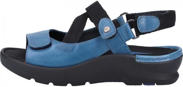 Wolky Sandalen Leder Blau