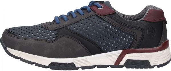 Tom Tailor Sneaker Lederimitat Schwarz/Blau