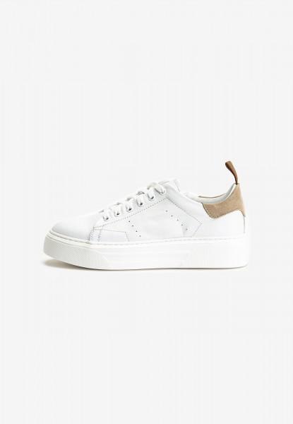 Inuovo Sneaker Leder Weiß/Beige