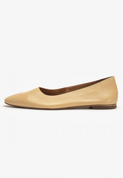 Inuovo Ballerinas Leather Light Brown