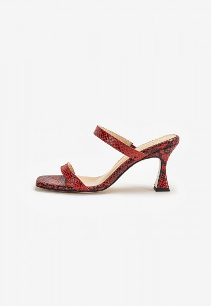 Inuovo Mules Leather Red