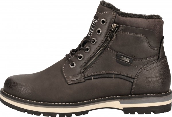 Tom Tailor Stiefelette Lederimitat Coal