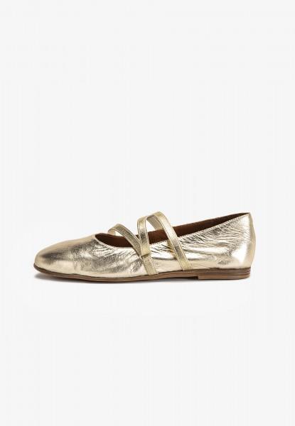 Inuovo Ballerinas Leder Gold