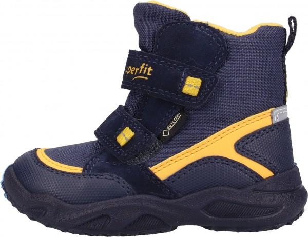 Superfit Stiefel Veloursleder/Textil Blau/Gelb
