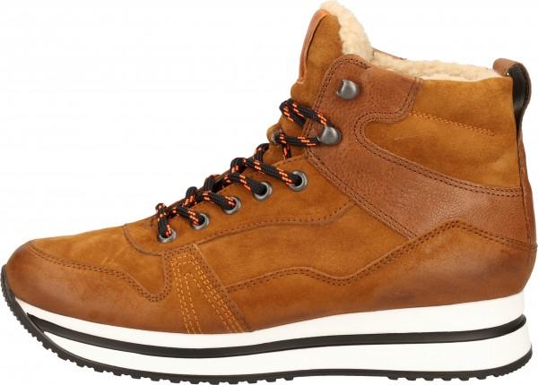 Paul Green Sneaker Veloursleder Braun/Orange