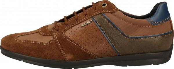 Geox Sneaker Leder/Synthetik Braun