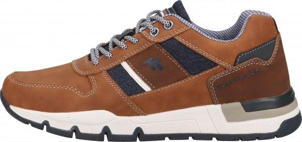 Tom Tailor Sneaker Lederimitat/Textil Cognac