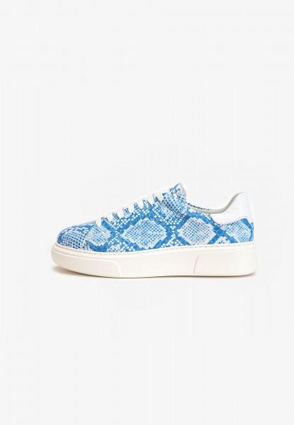 Inuovo Sneaker Leder Weiß/Blau