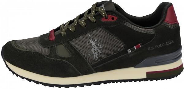 U.S. Polo Assn. Sneaker Veloursleder/Textil Oliv
