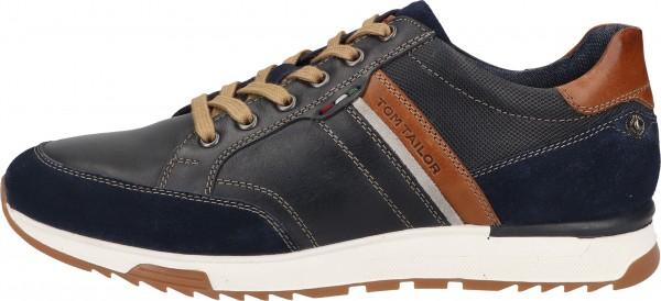 Tom Tailor Sneaker Leder Navy