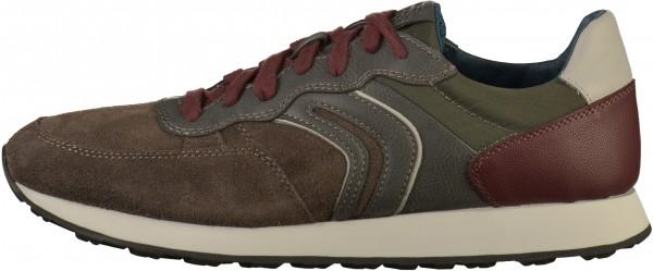 Geox Sneaker Lederimitat Braun