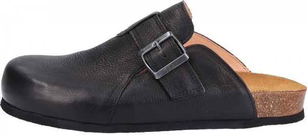 Think! Clogs Leder Schwarz
