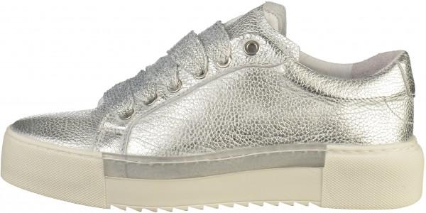 big sale 8dfd2 121ae Bronx Sneaker Leder Silber