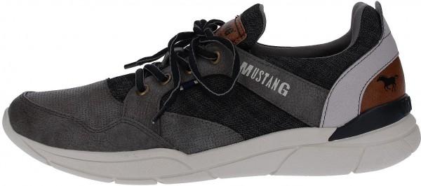 Mustang Sneaker Lederimitat Grau