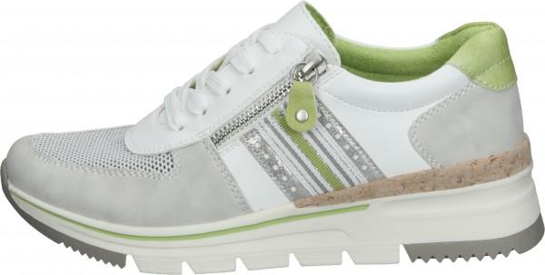 Relife Sneaker Lederimitat/Textil Weiß/Grau