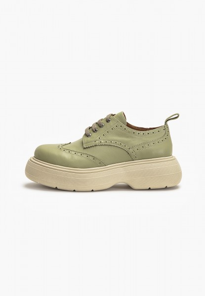 Inuovo Lace Ups Leather Olive