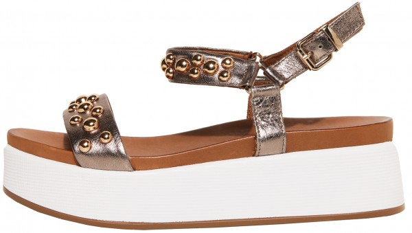 Inuovo Sandals Leather Pewter
