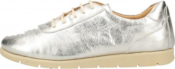 Darkwood Sneaker Leder Silber