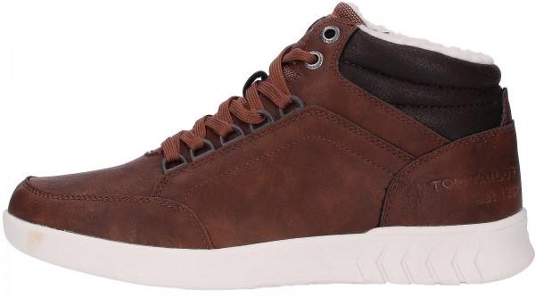 Tom Tailor Sneaker Leder/Textil Schwarz Warmfutter
