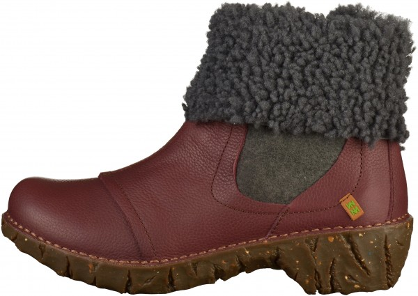 El Naturalista Booties Leather Bordeaux