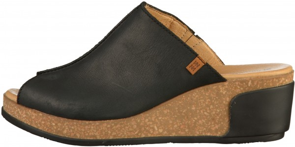 El Naturalista Mules Leather black2