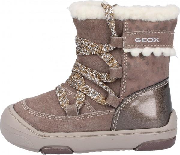 Geox Stiefel Leder/Textil Grau