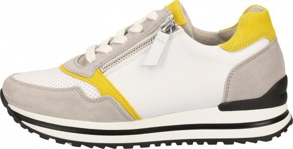 Gabor Sneaker Glattleder Weiß/Grau