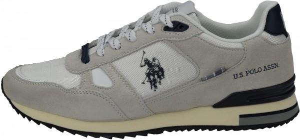 U.S. Polo Assn. Sneaker Veloursleder/Textil Weiß