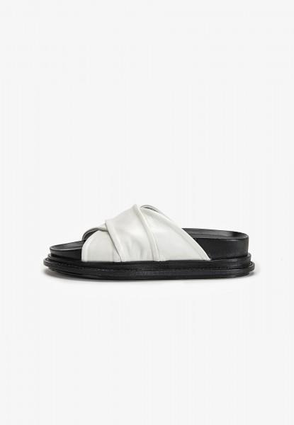 Inuovo Pantoletten Leder Weiß