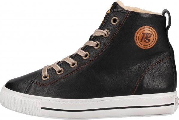 Paul Green Sneaker Glattleder Schwarz/Braun