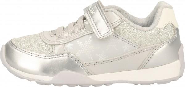 Geox Sneaker Lederimitat/Mesh Grau/Weiß