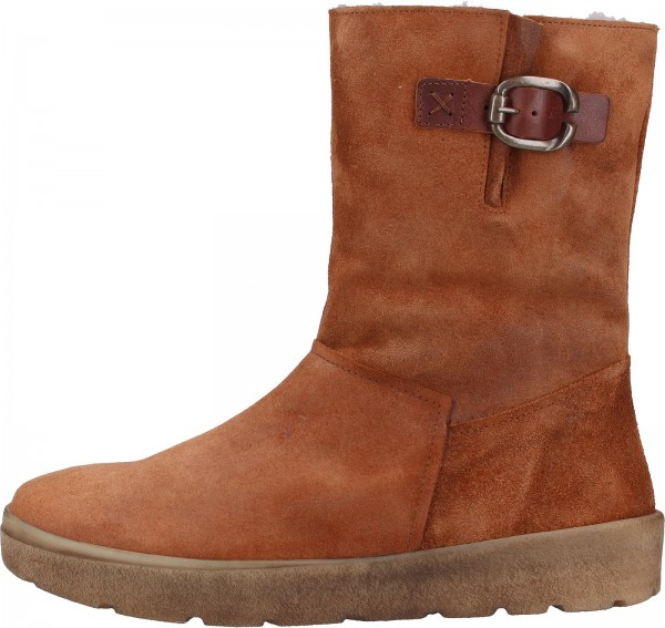 Think! Stiefel Veloursleder Cognac