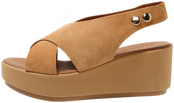 Inuovo Sandals Leather Suede Light Brown