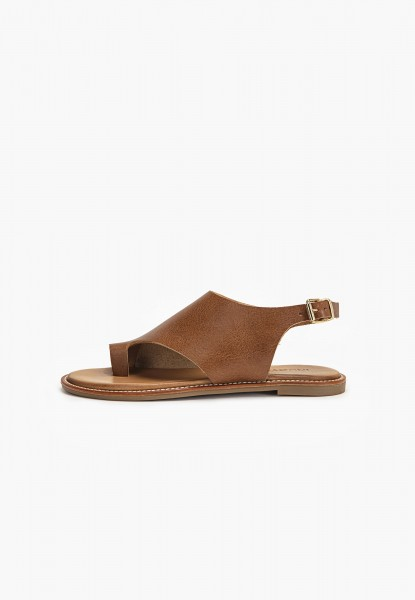 Inuovo Thong Leather Medium Brown