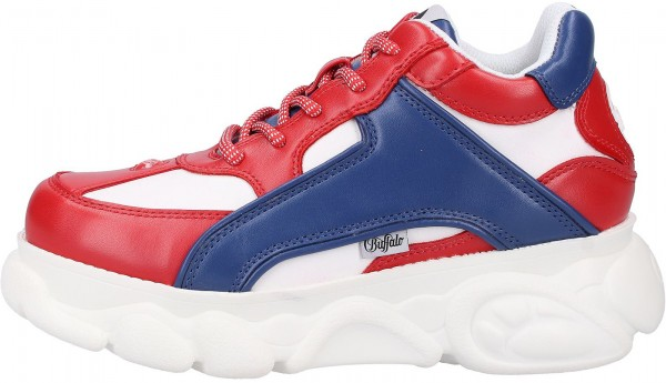 Buffalo Sneaker Lederimitat Rot/Blau