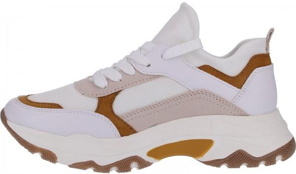 Marco Tozzi Sneaker Lederimitat/Textil Weiß