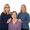 AVIn saavutettavuustiimi: Johanna Koskela, Emilia Ojala, Viena Rainio.