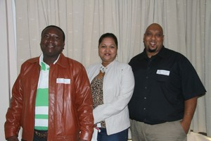 Siphiwe Mthembu, Yasmin Naidoo & Sanjay Babbikan (JLR Services & Warehousing).