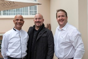 Brent Starr (Acucap Investments), Troy Zunckel and Christopher Hutchings (Baywest Mall).
